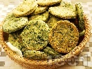 Рецепта Солени бисквити със спанак